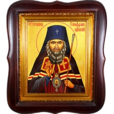 Иоанн Шанхайский Святитель Чудотворец. Икона на холсте