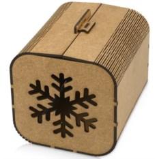 Большая подарочная коробка «Снежинка»
