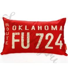 Декоративная подушка Car Number – Oklahoma