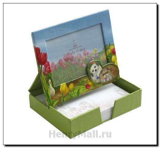 Коробка-фоторамка для записок «Тюльпаны»