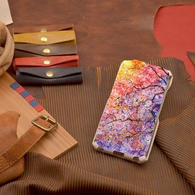 Кожаный чехол-флип для iPhone 6S / 6  Лето в ветках