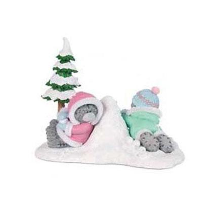 Коллекционная фигурка «Мишки играют в снежки» MTY