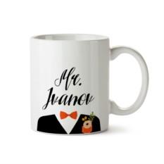 Кружка Mr & Mrs для него