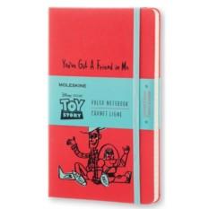 Красная записная книжка Moleskine Toy story в линейку