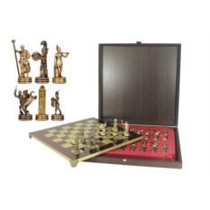 Красный шахматный набор Троянская война