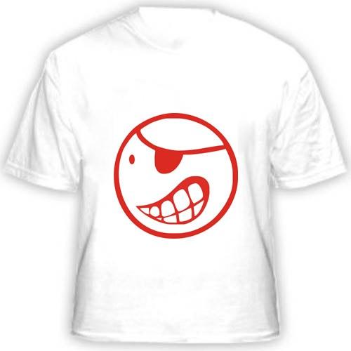 Прикольная футболка «Смайлик пират»