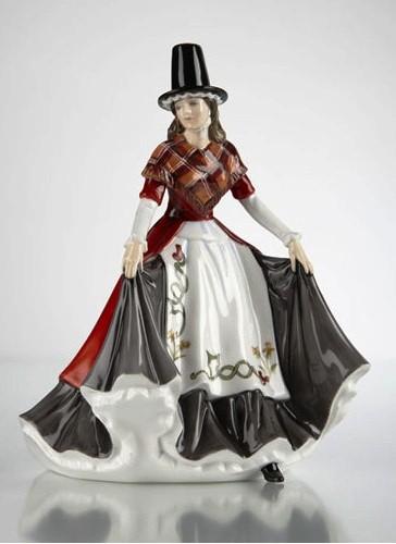 Коллекционная фарфоровая статуэтка Уэльс, 17 см