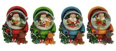 Водяной шар Дед Мороз с подарками, 4 см