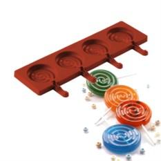 Форма для леденцов и конфет на палочке Леденец Silikomart