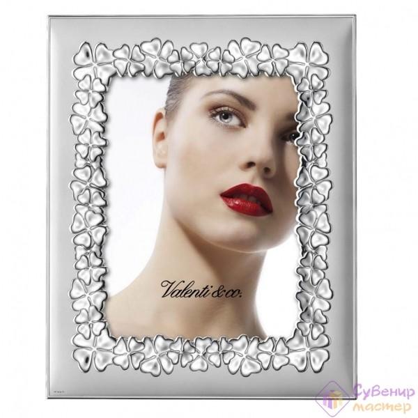 Фоторамка Valenty & Co, серебро с цветами