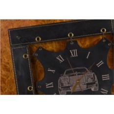 Часы из кожи Автомобиль (черный)
