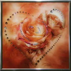 Картина с кристаллами Сваровски Сердечко №4