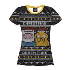 Женская футболка Christmas Adventure