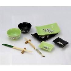 Набор для суши и роллов Черно-зеленый