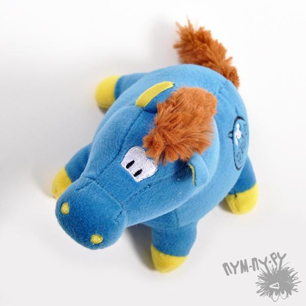 Голубая лошадка-мячик