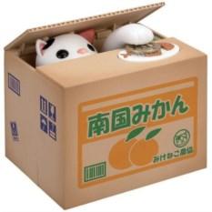 Копилка Кошка-воришка  в коробке