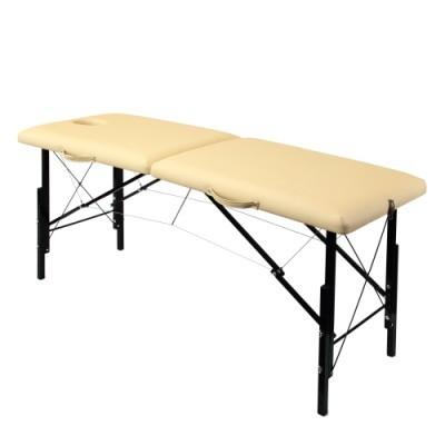 Складной деревянный массажный стол с системой тросов