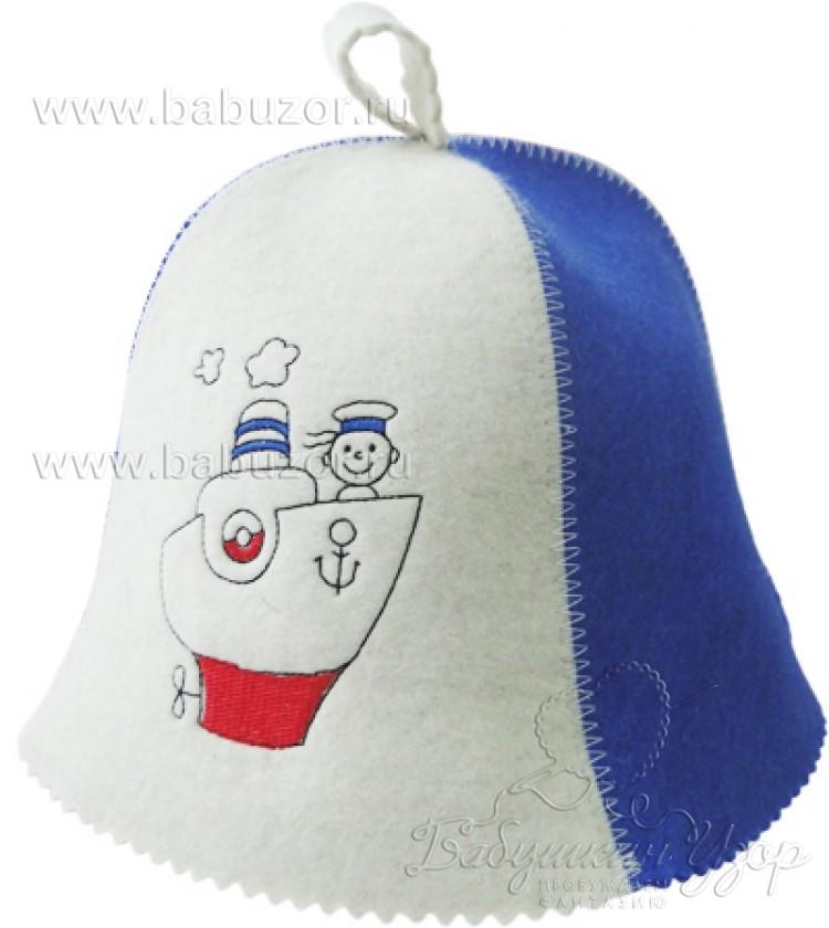 Детская банная шапка Морячок