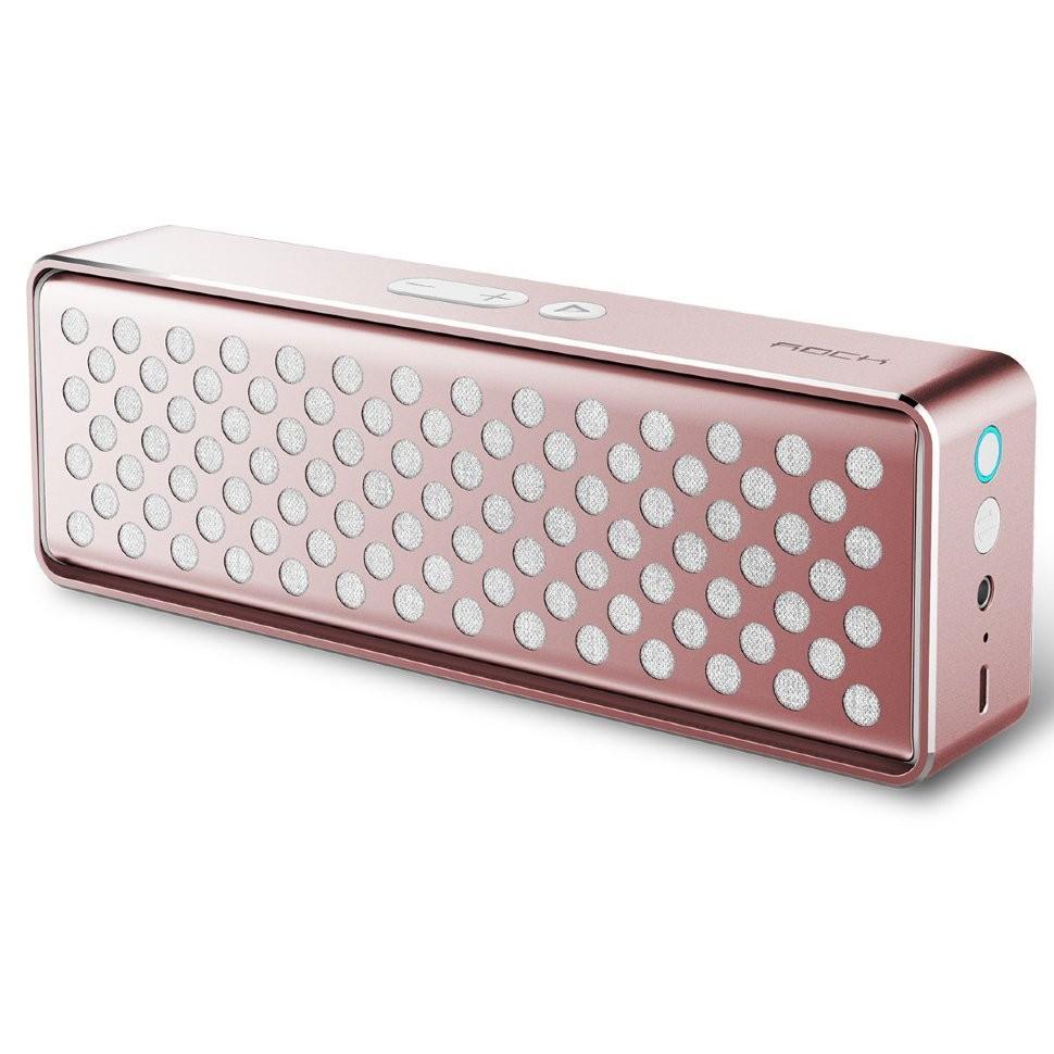 Портативная колонка Rock Mubox Rose Gold с Bluetooth