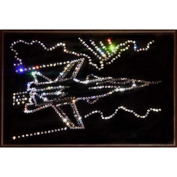 Картина Swarovski Самолет Су-27