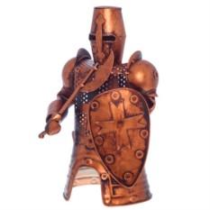 Декор бутылки из металла Рыцарь (цвет - медь)