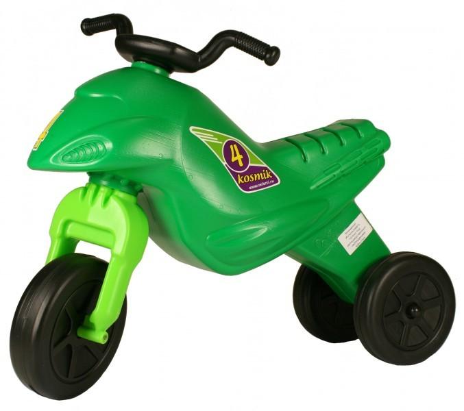 Детский мотоцикл-самокат Космоцикл (зеленый)