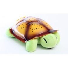 Светильник-проектор Черепаха с музыкой (цвет: салатовый)