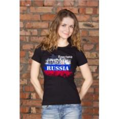 Женская футболка с вашим текстом Патриот