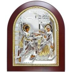 Икона Благовещение Пресвятой Богородицы, серебряный оклад