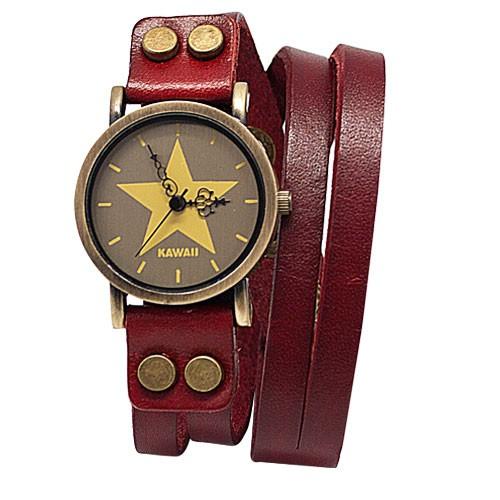 Часы The only star, красные