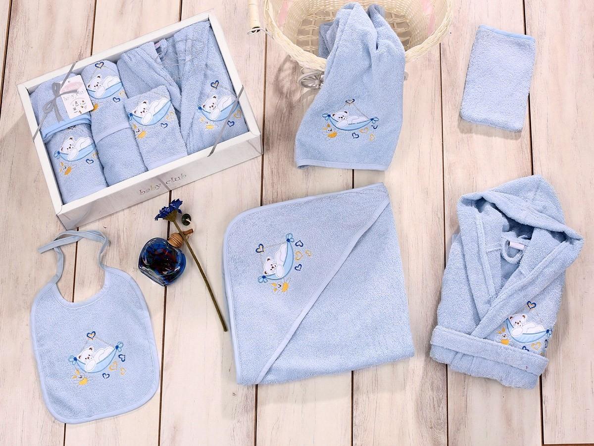 Голубой набор для купания Baby club