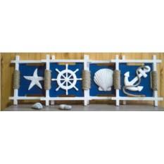 Набор из 4 декоративных панно Морские
