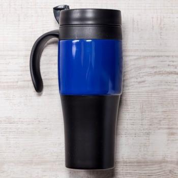 Сине-чёрная термокружка Либерика