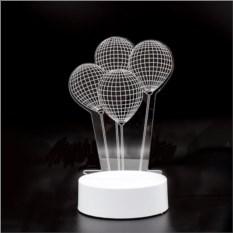 3D светильник Воздушные шарики