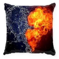 Подушка Сердце. Огонь-вода