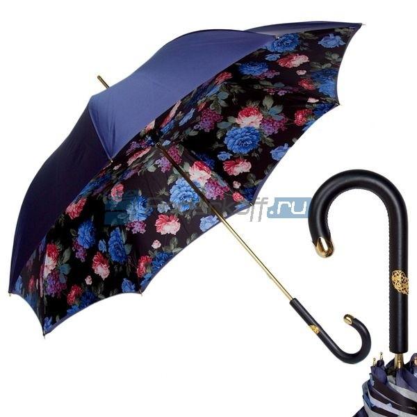 Женский зонт-трость Pasotti Blu Peony Dentell