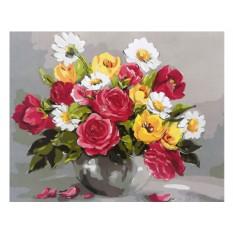 Картины по номерам «Весенние цветы»