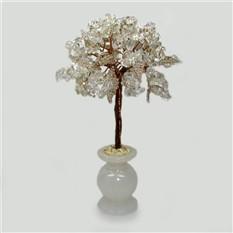 Хрустальное дерево из горного хрусталя в вазочке из оникса