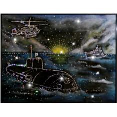 Картина с кристаллами Сваровски Дальний Восток