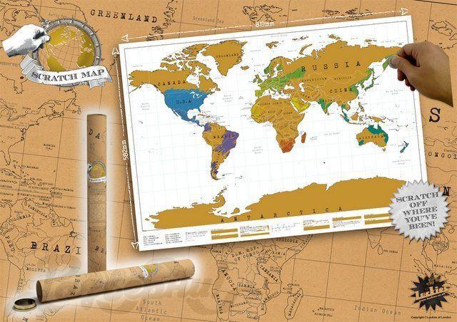 Карта путешественника стирающаяся