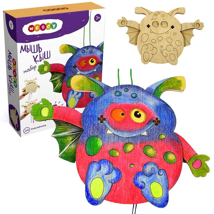 Деревянный набор для детского творчества «Мышь Кыш»