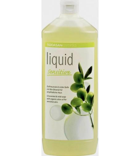 Жидкое мыло без запаха для чувствительной кожи