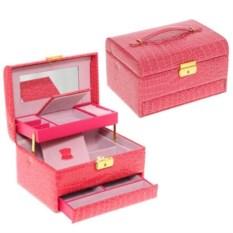 Ярко-розовая шкатулка-автомат, размер 22х16х12,5см