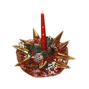 Букет из конфет «Новогодний подсолнух»