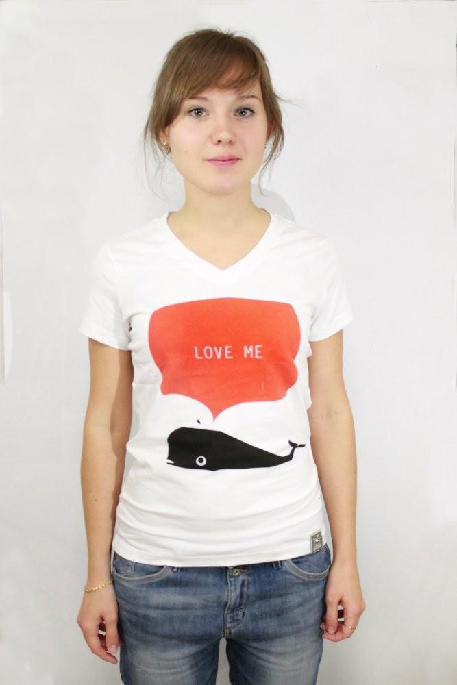 Женская футболка Кит
