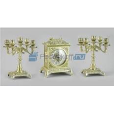 Каминные часы и 2 канделябра на 5 свечей Сундучок