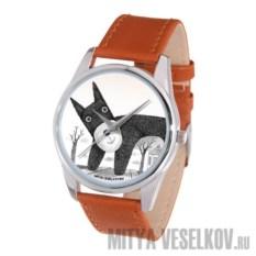Часы Mitya Veselkov Плюшевый пёс (цвет: шоколадный)