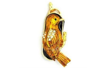 Флешка-кулон «Птица»