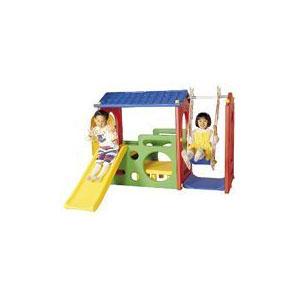 Супер игровой дом с качелями и горкой Haenim toys