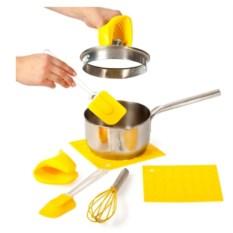 Желтый набор кухонных принадлежностей 7 предметов Облако